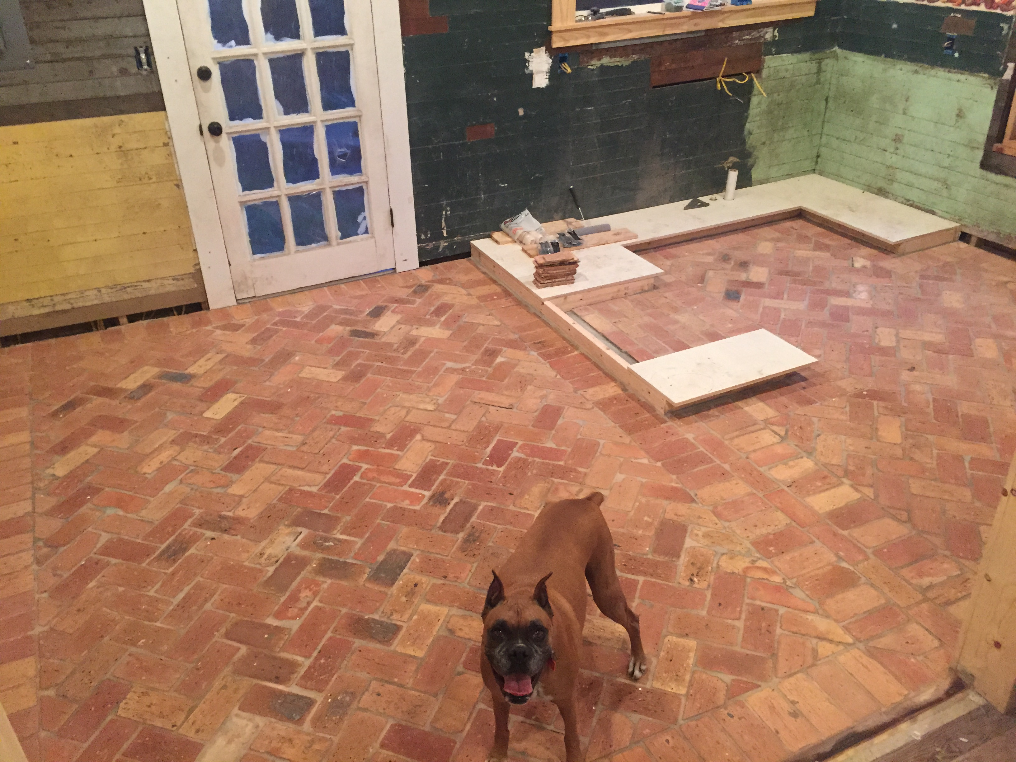 Brick Flooring Kitchen Floor Replacement 811 Southern